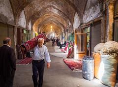 The Bazaar of Tabriz, Iran (TeunJanssen) Tags: tabriz iran middleeast travel traveling worldtravel backpacking worldtrip unesco worldheritage carpet bazar bazaar olympus omd omdem10 wool market architecture