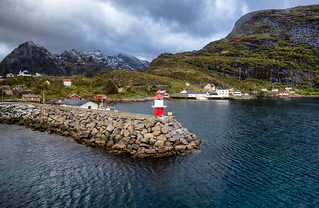 Entrance to the lofoten islands
