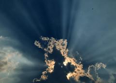 Sky-wise (Robyn Hooz) Tags: padova cielo sky raggi nuvole clouds azzurro blue blu view high above thoughts inspiration ispirazione