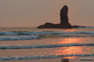 Pillar and Orange Waves