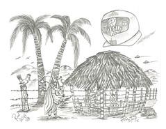 Pod Stop (rod1691) Tags: myart art sketchbook bw scfi grey concept custom car retro space hotrod drawing pencil h2 hb original story fantasy funny tale automotive illustration greyscale moonpies sketch sexy voodoo