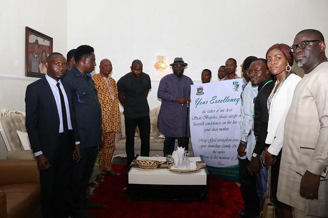 HSDickson- Condolence Visit By Pharmaceutical Association of Nigeria, Yenagoa.28th August 2018