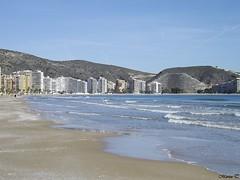 Cullera (Valencia) (MarisaTárraga) Tags: españa spain valencia cullera playa beach arena sol olas agua water cielo heaven fujifilmsl300 naturaleza nature verano summer