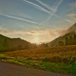 Sunrise in the mountains near Oberaudorf, Bavaria, Germany thumbnail