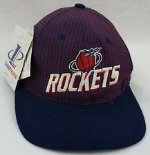 Vintage HOUSTON ROCKETS Logo Athletic NBA Basketball Adjustable Hat Cap (online clothing store) Tags: