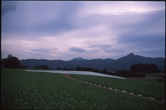 (✞bens▲n) Tags: pentax lx provia 100f at200 fa 31mm f18 limited film analog japan yamanashi fields cloud mountains landscape