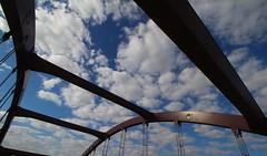 Bridge Clouds (pics by ben) Tags: iowafalls iowa ellsworth hardin walk northiowa iowariver midwest