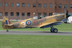 MK356 2508vi copy (Baz Aviation Photo's) Tags: mk356 supermarine spitfire lf mkixc royalairforce bbmf dunsfold wingswheels