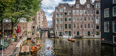 just a Sunday in Amsterdam (peterpj) Tags: amsterdam samsungs9 colorefexpro4 lightroom dng water gracht canal rowing