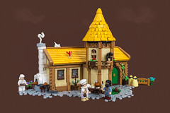 Filia's Bakery (roΙΙi) Tags: castle bakery workshop baker medieval ninekingdoms neunreiche roguebricks afol lego building oven tower