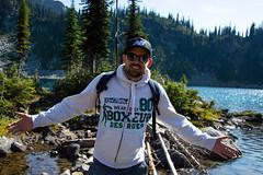 Taking Miller Lake. (marcella.cavelli) Tags: canada britishcolumbia alberta squamish whistler banff jasper clearwater sky falls tree hike hiking trail trip snow lake wood ab bc