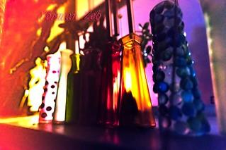 Bottles by Window