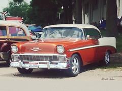 Idaho Chevy (novice09) Tags: backtothefifties carshow chevrolet belair hardtop ipiccy
