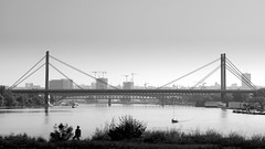 New Beginnings (Marija Mimica busy!!!) Tags: monochrome magicmoments bridge blackwhitephotos belgradeblackwhite building people river water sky panorama tree silhouette yourbestoftoday