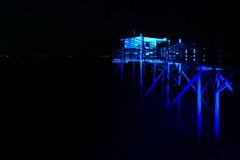 Fishing at any time (Le.Patou) Tags: aquitaine gironde médoc garonne estuaire carrelet nuit bleu noir pécheur pêche filet estuary night black blue fisherman fishing hut cabin jsslll net fz1000