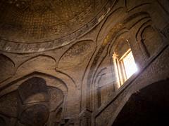 Dust particles, Iran (TeunJanssen) Tags: dust light mosque dof 75mm 75mmf18 olympus omd omdem10 iran esfahan isfahan jameh architecture travel traveling unesco worldtravel worldtrip worldheritage middleeast rays