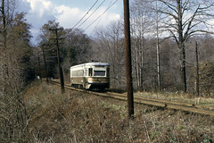 US PA Philadelphia SEPTA-PSTC Red Arrow 82 Fantrip 11-21-1971 Pine Ridge - Doug Grotjahn Photo (David Pirmann) Tags: pa pennsylvania philadelphia septa redarrow pstc philadelphiasuburbantransco interurban train trolley tram transit railroad