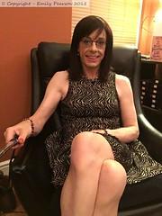 July 2018 (Girly Emily) Tags: crossdresser cd tv tvchix tranny trans transvestite transsexual tgirl tgirls convincing feminine girly cute pretty sexy transgender boytogirl mtf maletofemale xdresser gurl glasses dress tights hose hosiery indoor
