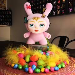 The Dreamer Pink_4781 (danimaniacs) Tags: dunny kidrobot flocked vinyl easter spring plastic colorful mabgraves
