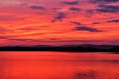 Sunrise on Burton Island (Sunset Master) Tags: sunrise vermont island lake landscape mountains champlain burlington nikon d7200 pink red storm warning weather clouds sun bright reflection peace colorful