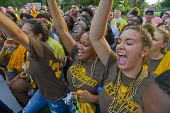 Presidents_Welcome_2018_328 (Rowan University Publications) Tags: president welcome 2018 parade ceremony picnic torch pass knowledge young distinguished alumni freshmen students weekend rowan wing eating contest hot sauce