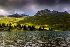 Light and shadow (sylviafurrer) Tags: engstlensee mountainlake berge mountain clouds wolken alpen alps switzerland wolkenstimmung landscape landschaft