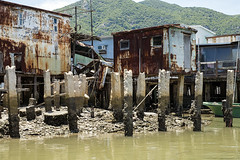 Disrepair (syf22) Tags: busted damaged decrepit decayed kaput wreck columns fishing village stilt wooden house living accommodation home water watercourse building tanka community fisher structure earthasia