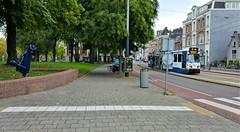 Is-tie weer..! (Peter ( phonepics only) Eijkman) Tags: amsterdam city bn trapkar statue tramhaltes tramstop tram transport trams tramtracks trolley rail rails streetcars strassenbahn nederland netherlands nederlandse noordholland holland gvb