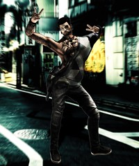 Photo_LoL (JohnnyWalker29 Resident) Tags: secondlife second life photo lol people person male boy man bad peace love street city store light pose bento mesh body signature belleza adam aesthetic jeans shirt pullover crazy poster
