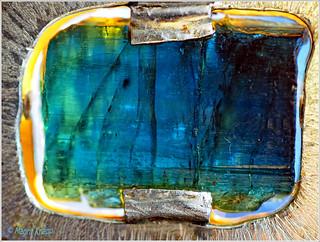 Blauer Indigolith/Turmalin in einer Fassung aus Silber!