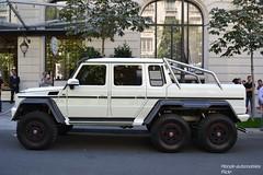 """Mercedes G63 AMG 6X6 """"mon premier"""" (Monde-Auto Passion Photos) Tags: voiture vehicule auto automobile mercedes classe g63 g63amg g63amg6x6 6x6 amg pickup blanc white sportive rare rareté ksa arabiesaoudite peninsula france paris"""
