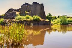 Magical rock of basalt