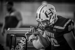 Three Games. One Night. (Phil Roeder) Tags: desmoines iowa desmoinespublicschools football sport athletics athletes blackandwhite monochrome canon6d canonef100400mmf4556lis hooverhighschool
