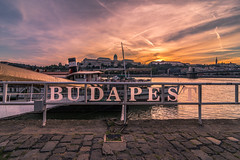 Sunset in Budapest (Vagelis Pikoulas) Tags: sun sunset budapest buda pest hungary colors colours travel holidays landscape city cityscape urban castle sky skyscape river boat danube canon 6d tokina 1628mm autumn september 2018