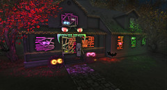 We Made Some Halloween Decorations ! (Bob_pixel) Tags: halloween secondlife coffin monster house mesh eyes skeleton exterior interior decorations decor decorating
