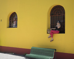 98 in the shade.... (J. Kaphan Studios) Tags: buenosaires argentina southamerica travel traveler travelphotography travelblogger colorful colors model models blonde yellow red green fujixseries fujifilm photography streetphotography streetportrait simple explore composition