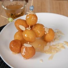 sweet food (abdullahsaphoto) Tags: لقيمات حلا sweet balls food foodphotography photography photoshop photo nikond850 woodenstick shape arabic tourism tourist saudiarabia