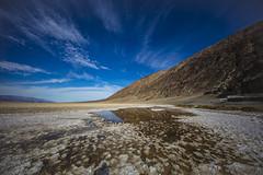 Badwater Basin (CraDorPhoto) Tags: canon landscape canon5dsr sky clouds blue reflection saltflats mountains deathvalley usa california