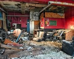 Breakroom of a band rehearsal building (neilsharris) Tags: abandonedchicago