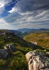 Rock, grass and sky (PJ Swan) Tags: glaramara lake district england cumbria mountains fells great britain unesco landscape beautiful summer sunny day gf7 m43 panasonic hillwalking hiking hills ngc