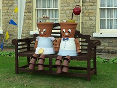 Flowerpot scarecrows (Martellotower) Tags: flowerpot scarecrows thorntonledale north yorkshire