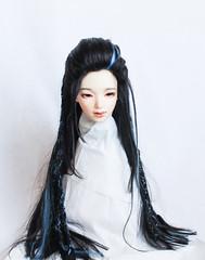 commission wig (SophyMolly) Tags: bjd balljoineddoll braid blue abjd angora alpaca doll dolls fashion fantasy fashiondoll sophymolly wig etsy sale discount