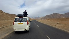 Jigmet filming atop of the support vehicle - not sure this would fit within worksafe laws in Australia