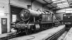 On Works (4486Merlin) Tags: 5224 exgwr gwrclass5205 heritagerailways midlands peakrailway railways steam transport rowsleysouth derbyshire unitedkingdom gbr bw