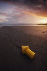 Les voies parallèles (jonathan le borgne) Tags: bouée ciel mer ocean water sea seascape waterscape sky clouds colors sand beach light lumière shadow sunset sun
