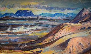Kristin Jonsdottir - Namaskard Hillside, 1942 at Reykjavík Art Museum Kjarvalsstaðir Reykjavik Iceland