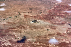 Above Meteor Crater (Richard Melton) Tags: crater arizona aerial