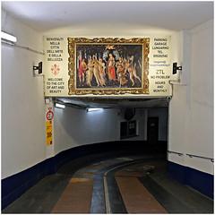 florenz 12 (beauty of all things) Tags: italien toskana florenz gemälde paintings quadratisch parking parken parkhaus parkingblock