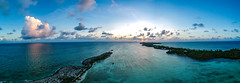 (Fifinator) Tags: drone dji bahamas spark elevation aerial over flying sunset ocean harbour harbor boat anchored beach turqoise green panorama sea scape