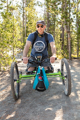 Carrying bear spray on an off-road wheelchair (YellowstoneNPS) Tags: ada grandcanyonoftheyellowstone sublimepointtrail ynp yellowstone yellowstonenationalpark accessibility bearspray offroadwheelchair